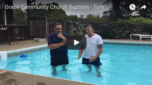 Tom's Baptism at Grace
